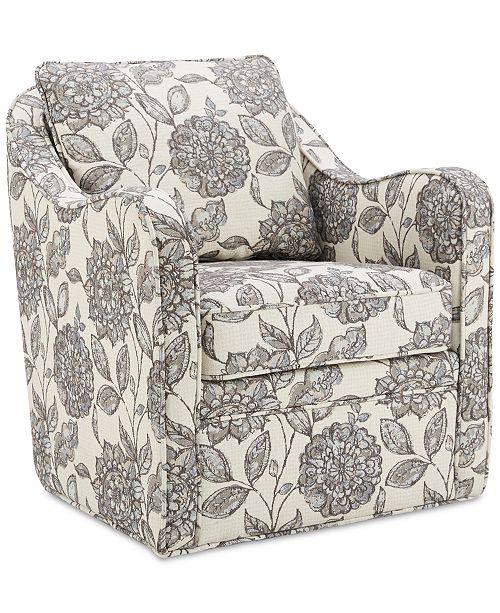Madison Park Dulce Swivel Chair, Quick Ship