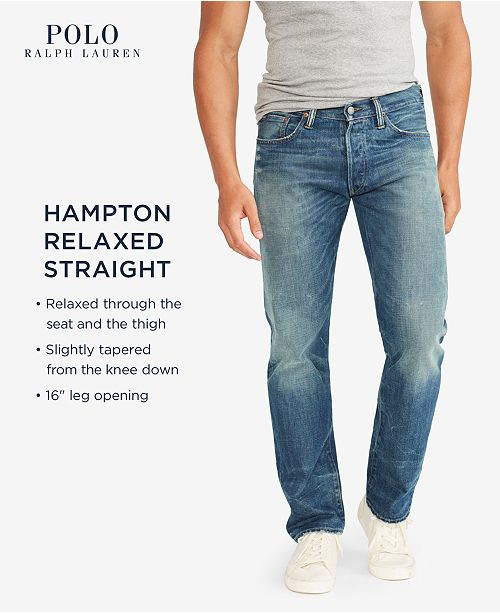 e3d7c53255b60 Polo Ralph Lauren Men s Big   Tall Hampton Relaxed Straight Jeans ...