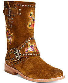 Frye Women's Nat Flower Engineer Boots