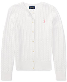Ralph Lauren Toddler Girls Cable Cardigan