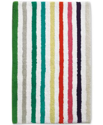 "Candy Stripe Cotton 21"" x 34"" Bath Rug"