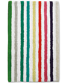 "kate spade new york Candy Stripe Cotton 21"" x 34"" Bath Rug"