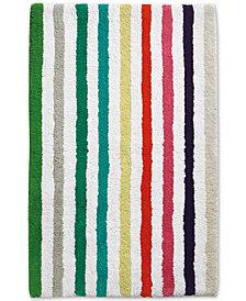 "kate spade new york Candy Stripe Cotton 21"" x 34"" Bath Rug"