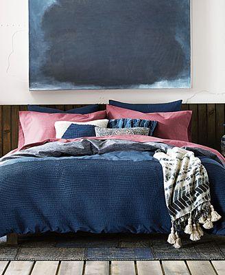 Tommy Hilfiger Blues Vintage Pleated Comforter Sets