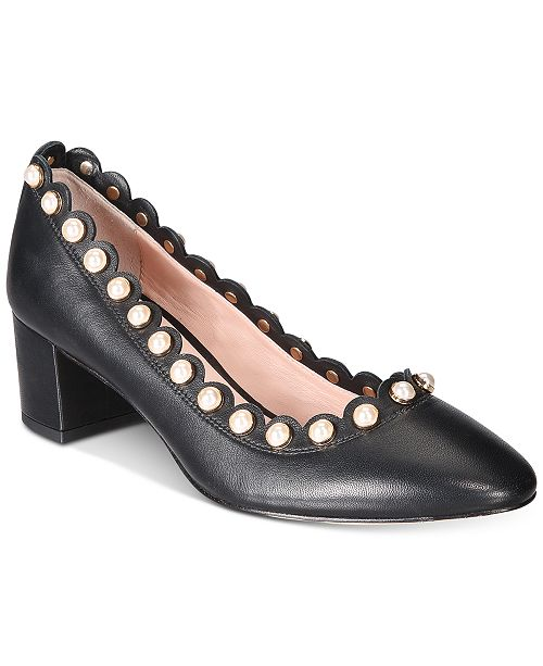 0f6bed933253 ... kate spade new york Maeve Pearl-Studded Block-Heel Pumps ...