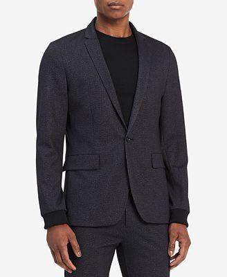 Calvin Klein Men's Slim-Fit Stretch Textured Blazer