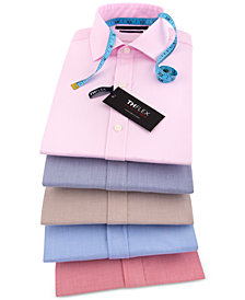 Tommy Hilfiger Men's Athletic Fit Performance Stretch TH Flex Collar Fineline Stripe Dress Shirt
