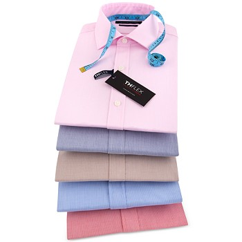 Tommy Hilfiger Athletic Fit TH Flex Collar Fineline Stripe Men's Shirt