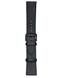 Smart Buddie Platinum Black Saffiano Leather Strap for 22mm Smart Watch