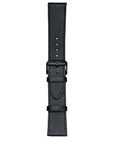 VogueStrap Smart Buddie Platinum Black Saffiano Leather Strap for 22mm Smart Watch