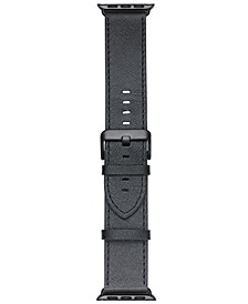 Smart Buddie Platinum Black Saffiano Leather Strap for 38mm Apple Watch®