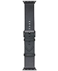 VogueStrap Smart Buddie Platinum Black Saffiano Leather Strap for 38mm Apple Watch®