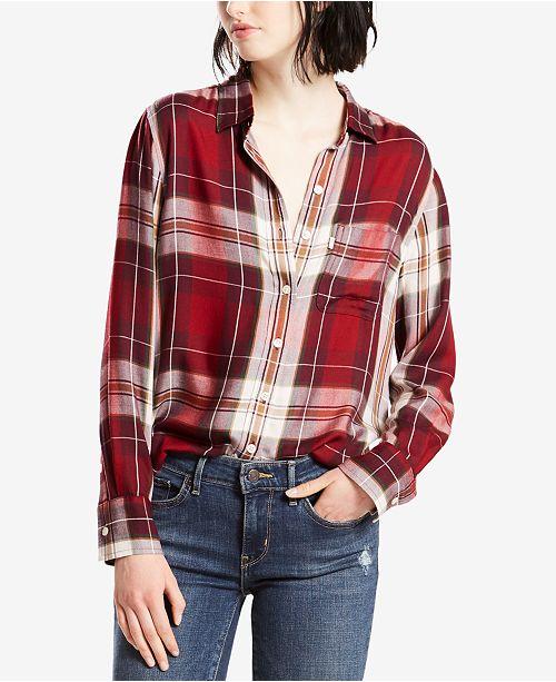 Levi's Boyfriend Plaid Button Up Shirt