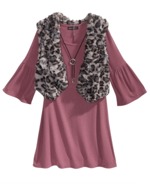 Sequin Hearts 3-Pc. Sweater...