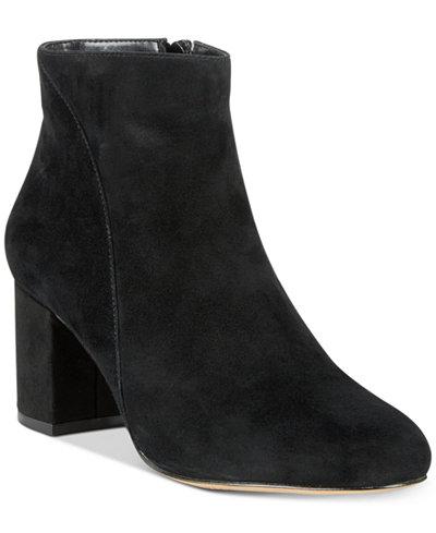 I.N.C. Floriann Block-Heel Ankle Booties, Created for Macy's