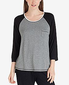 Layla Raglan-Sleeve Pajama Top
