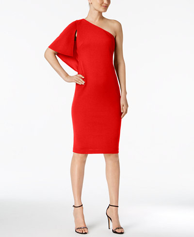 Calvin Klein Petite One-Shoulder Sheath Dress