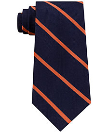 Tommy Hilfiger Men's Diagonally-Striped Silk Tie