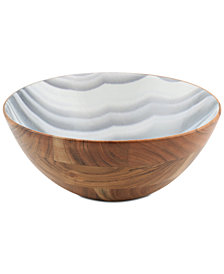 Thirstystone Wood & Enamel Large Bowl