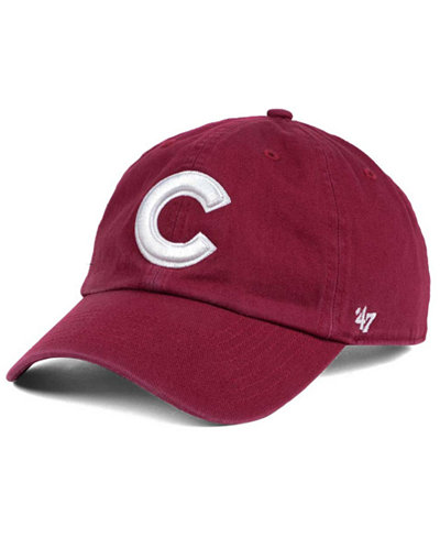 '47 Brand Chicago Cubs Cardinal and White CLEAN UP Cap