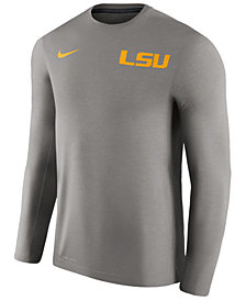 Nike Men's LSU Tigers Dri-Fit Touch Long Sleeve T-Shirt