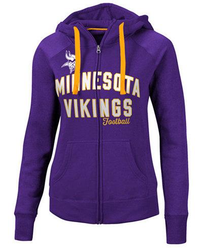 G-III Sports Women's Minnesota Vikings Conference Full-Zip Jacket
