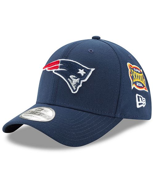 New Era New England Patriots 5X Super Bowl Champ Patch 39THIRTY Cap