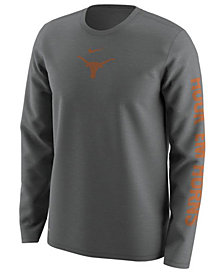 Nike Men's Texas Longhorns Fresh Trainer Hook Long Sleeve T-Shirt