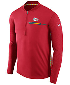 Nike Men's Kansas City Chiefs Coaches Quarter-Zip Pullover