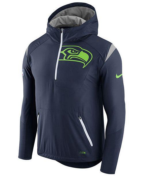 4647391a3 Nike Men s Seattle Seahawks Lightweight Fly Rush Jacket - Sports Fan ...