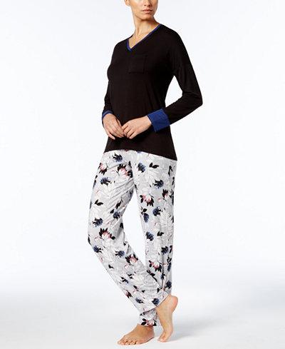 Alfani Colorblock Pajama Top & Pants Sleep Separates, Created for Macy's
