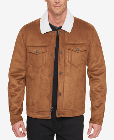 Levi's® Men's Faux-Shearling Trucker Jacket with Fleece Lining ...