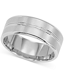 Satin-Finish Band in 14k White Gold
