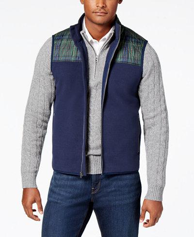 Brooks Brothers Red Fleece Men's Quilted Polar Fleece Vest - Coats ... : quilted mens vest - Adamdwight.com