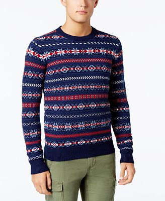 Tommy Hilfiger Men's Fair Isle Sweater, Created for Macy's ...