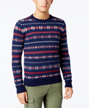 Men's Vintage Style Sweaters – 1920s to 1960s Tommy Hilfiger Mens Fair Isle Sweater $129.00 AT vintagedancer.com