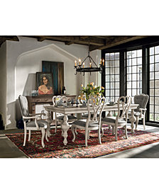 Rochelle Expandable Dining Furniture, 7-Pc. Set (Table & 6 Side Chairs)