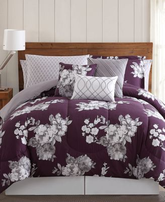 Peony Garden Floral 12-Pc. Queen Bed Ensemble