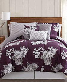 Peony Garden Floral 12-Pc. King Bedding Set