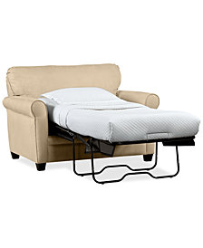 "Kaleigh 55"" Fabric Single Sleeper Chair Bed - Custom Colors"