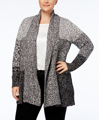 Charter Club Plus Size Shawl-Collar Cardigan, Created for Macy's