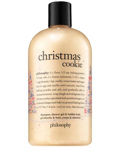 Philosophy Christmas Cookie Shampoo Shower Gel Bubble Bath