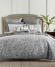 LAST ACT! Charter Club Damask Designs Stone Paisley 300-Thread Count 3-Pc. Comforter Sets, Created For Macy's