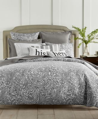 charter club damask designs stone paisley 300thread count 3pc bedding collection