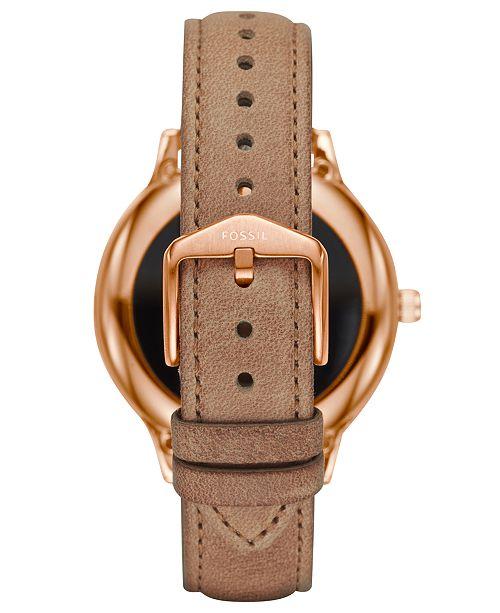 Fossil Q Women's Venture Gen 3 Light Brown Leather Strap