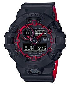 G-Shock Men's Analog-Digital Black Resin Strap Watch 54mm