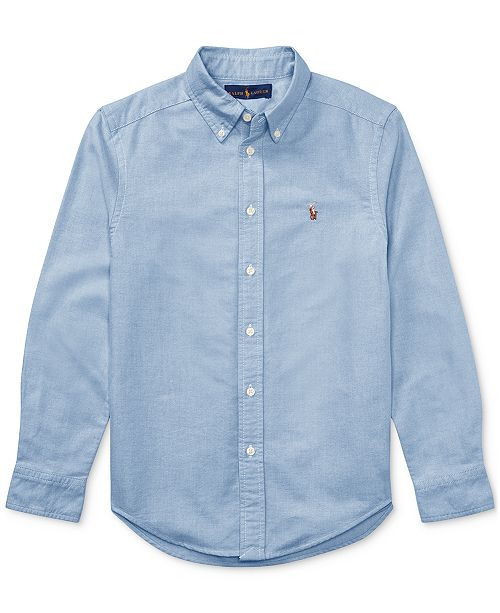 5c338694e196f Polo Ralph Lauren Big Boys Blake Oxford Shirt & Reviews - Shirts ...