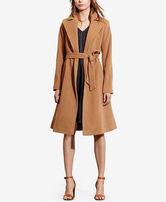 lauren ralph lauren plus size wrap coat - women - macy's
