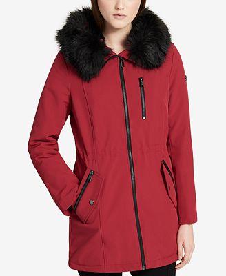 Calvin Klein Faux-Fur-Lined Parka - Coats - Women - Macy's