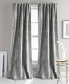 "DKNY Atrium Metallic-Print Faux-Suede 50"" x 108"" Pair of Window Panels"